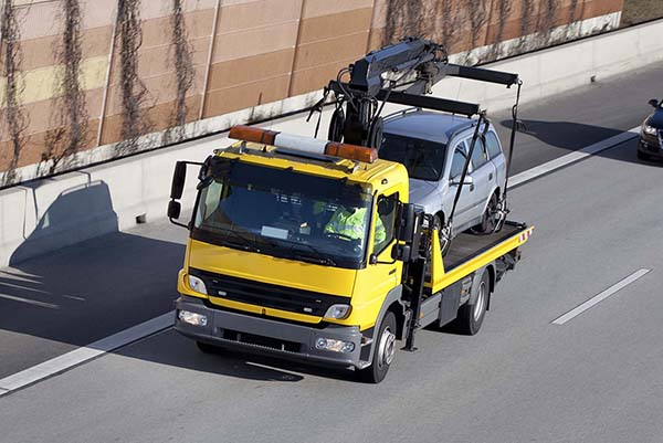 Tow truck on the motorway
