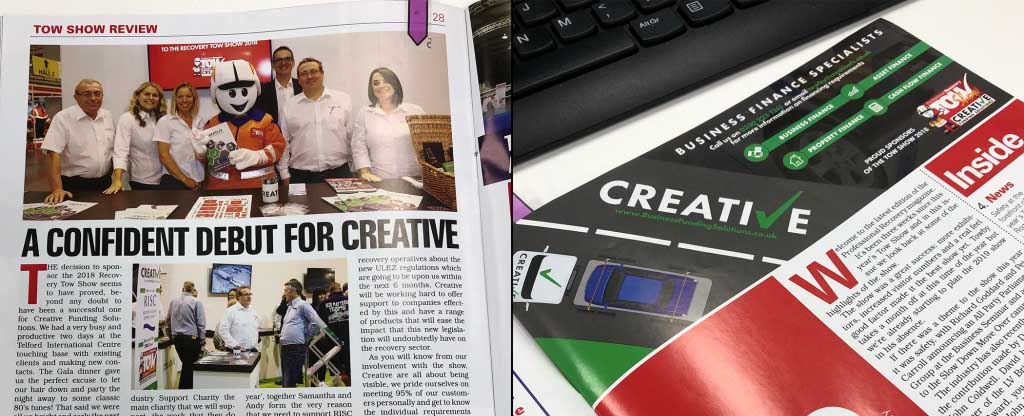 Creative Article In Professional Recovery Mag